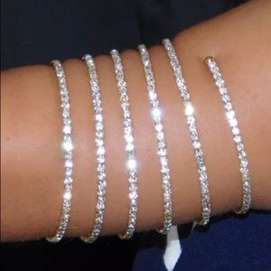 Jewelry - Crystal rhinestone arm band cuff spiral bracelet